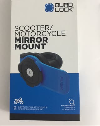 Mirror Mount Quad Lock Scooter/Motorcycle