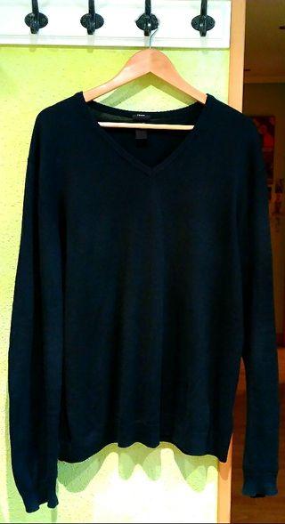 Jersey azul marino hombre H&M