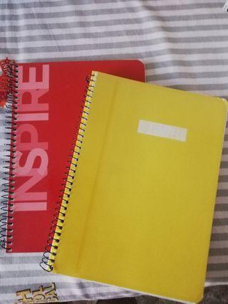 Cuadernos sin estrenar tamaño cuartilla.