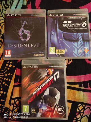 pack 3 juegos Playstation 3