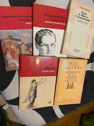 Pack 5 llibres literatura catalana