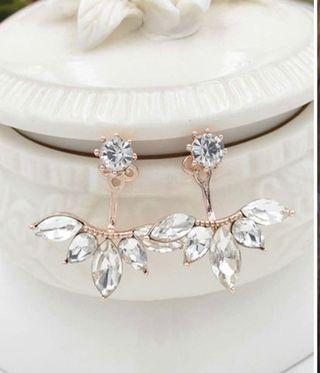 Pendientes Con Diamante De Imitación
