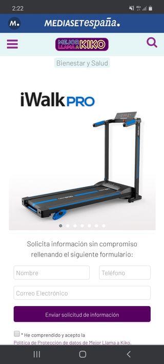 CINTA DE ANDAR Y CORRER iWALK PRO