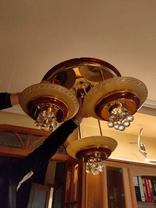 se venden dos lámparas de comedor seminuevas
