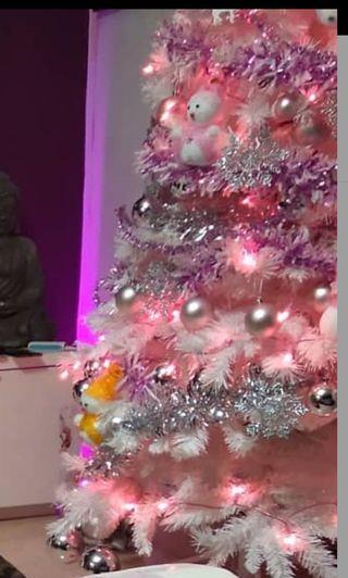 árbol de navidad blanco