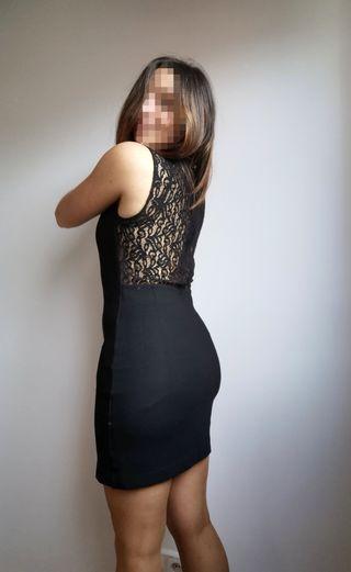 Vestido negro elegante de Zara. Perfecto para cen