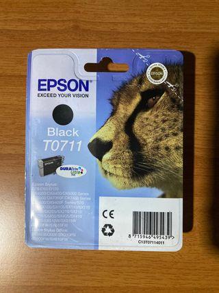 3 CARTUCHOS DE TINTA EPSON BLACK T0711