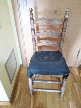 Silla rústica Antigua, ideal arreglar asiento