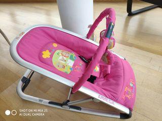 Hamaca bebé niña rosa