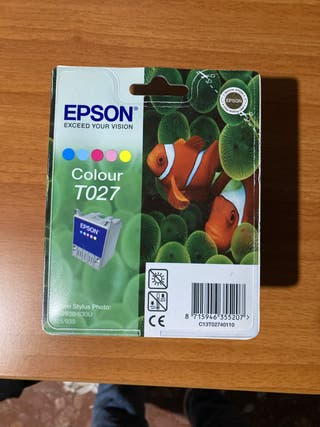 1 CARTUCHO DE TINTA EPSON COLOUR T027