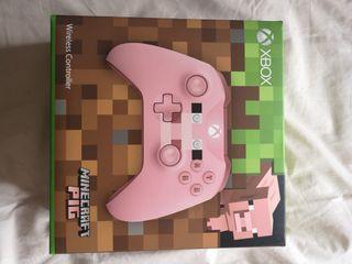 Mando XBOX ONE controller MINECRAFT PIG NUEVO.