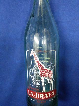 Botella serigrafiada gaseosa la jirafa de Bilbao