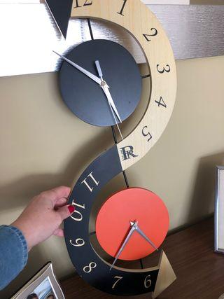 Rebajado! Original reloj moderno pared 2 esferas