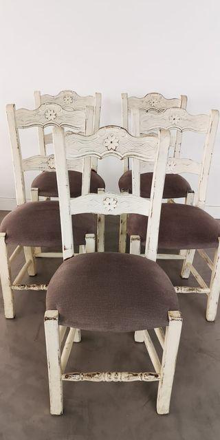 Juego de 6 sillas Vintage