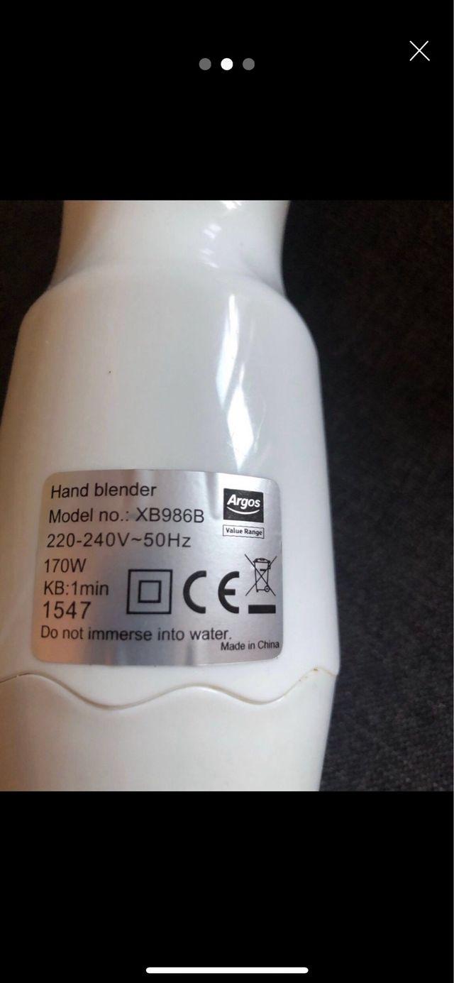 Hand blender Argos