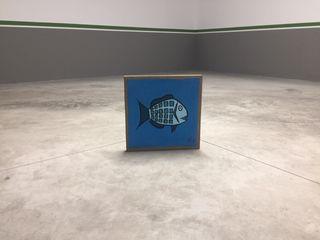 Cuadro pez , 40x40