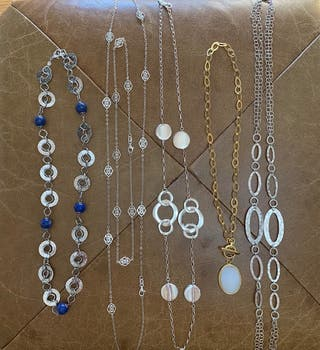 Lote 6 Collares Plata de Ley 925 y Stainless Steel