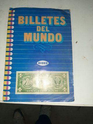 album billetes del mundo.falta un cromo n.13.