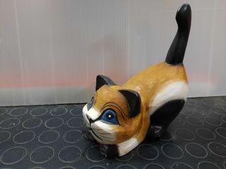Figura gato madera