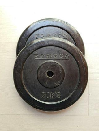Discos 20kg Goma (Envío gratis)