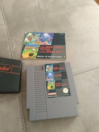 Cartucho Nintendo NES 3 en 1.