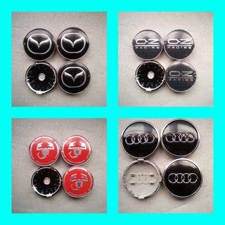 Tapabujes centro rueda:Mazda,OZ,Abarth, Audi
