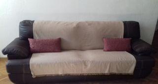 Sofá vintage de piel natural