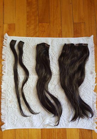 Extensiones de cabello Castaño