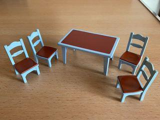 Playmobil lote mesa y 4 sillas cocina victoriana