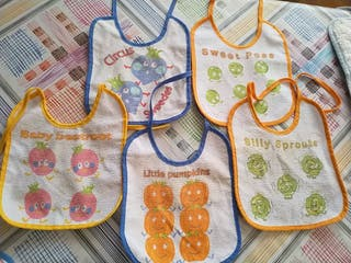 5 pechitos bebé lote