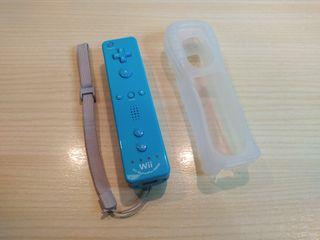 Mando Wii Motion Plus + Funda. Azul