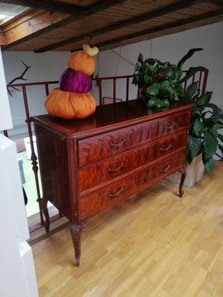 cajonera cómoda aparador madera antigua