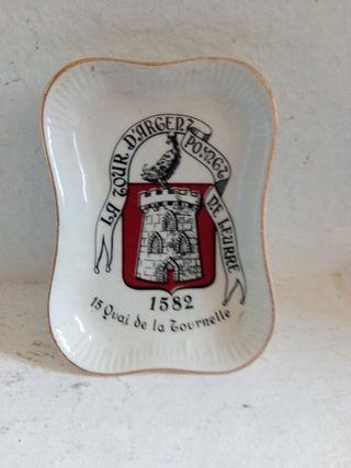 Cenicero de cerámica de Longchamp France