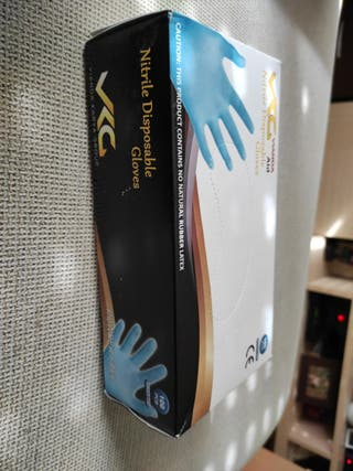 caja de guantes de látex 100 unidades talla m