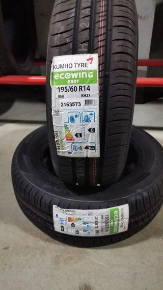 Neumáticos Kumho 195/60 14 86H KH27 Ecowing ES01
