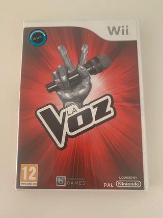 Wii juego la voz