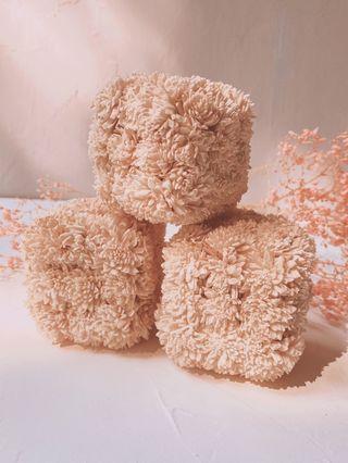 Bonitos Cubos Decorativos Florales