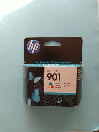 1 cartucho tinta color officejet 901