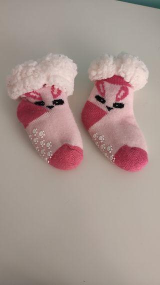 calcetines antideslizante y abrigados