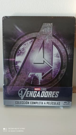 steelbook 4 bluray Vengadores Marvel