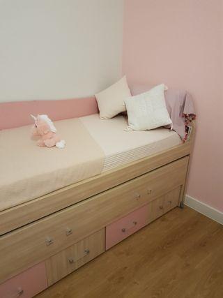 cama nido+ cajones+escritorio