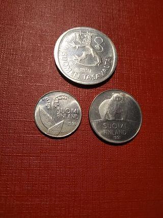 Monedas Finlandia 1991 sin circular