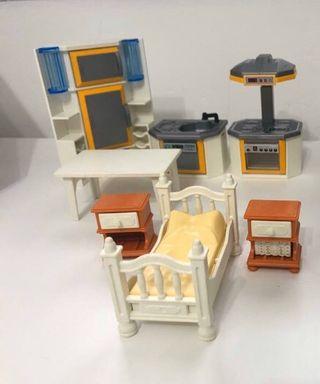 Cocina y dormitorio Playmobil