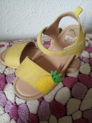 sandalias amarillas n-30