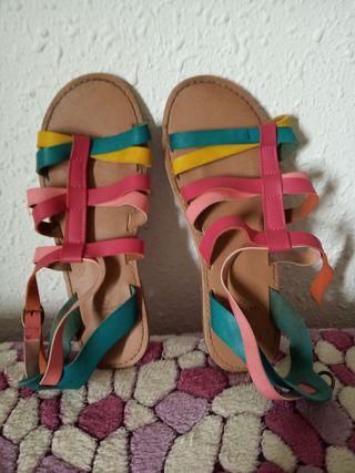 sandalias colores n-34