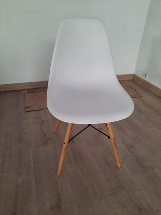 Silla Blanca estilo Nordico