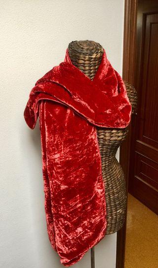 Bufanda de terciopelo roja