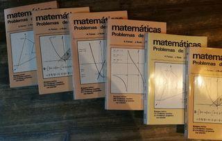 matemáticas. 6 libros de problemas.
