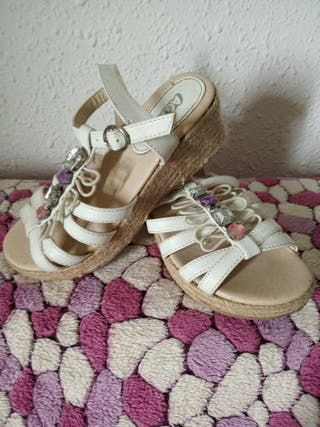 sandalias blancas n-33