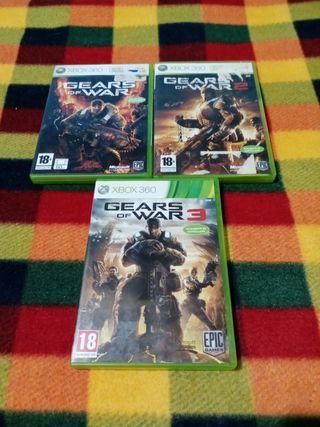 trilogía gears of War Xbox 360
